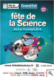 affiche fête de la science 6 au 14 octobre 2018